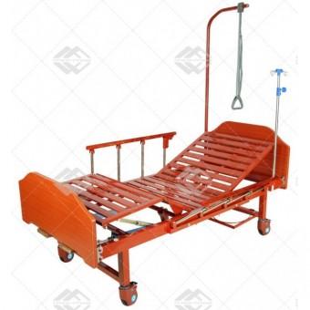 Медицинская кровать Е-8 (2 функции) ЛДСП с полкой и обеденным столиком