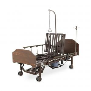 Кровать электрическая Med-Mos YG-3 ЛДСП Венге с боковым переворачиванием, туалетным устройством и судном с крышкой, функцией кардиокресло