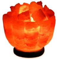 Солевая лампа Ваза с камнями Огненная чаша