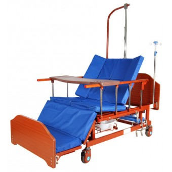 Кровать многофункциональная механическая Е-45А с боковым переворачиванием, туалетным устройством и функцией кардиокресло