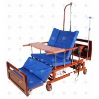 Кровать электрическая DB-11А с боковым переворачиванием, туалетным устройством и функцией «кардиокресло»